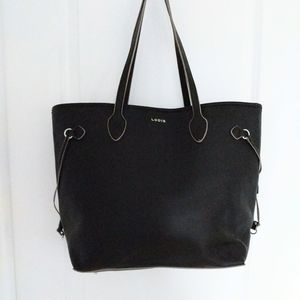 Lodis Bliss Black Leather Tote Bag